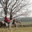 Couple on Horseback